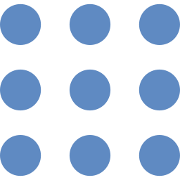 nines dots in a 3 by 3 grid